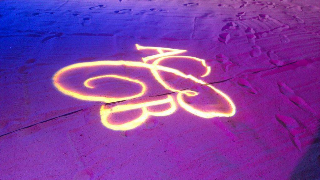 Monogrammed Gobo on Sand