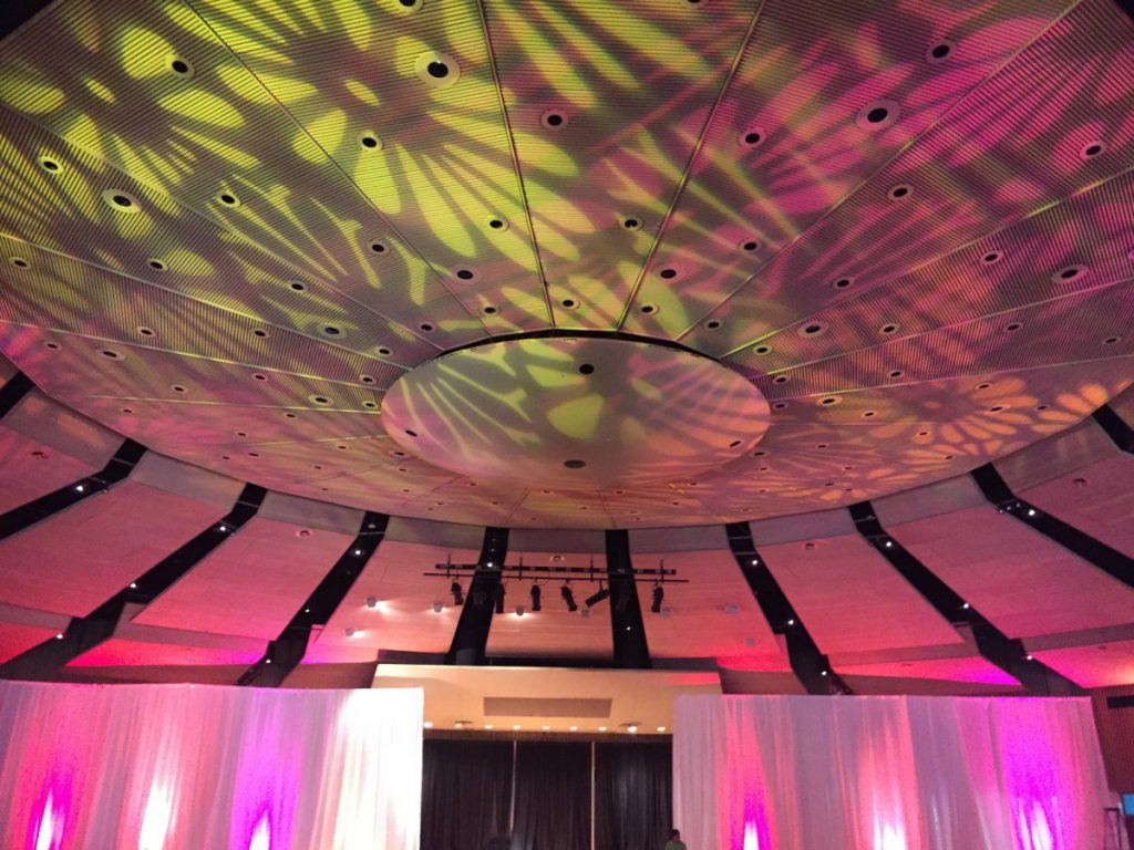 Colored (Glass) Gobos on Ceiling