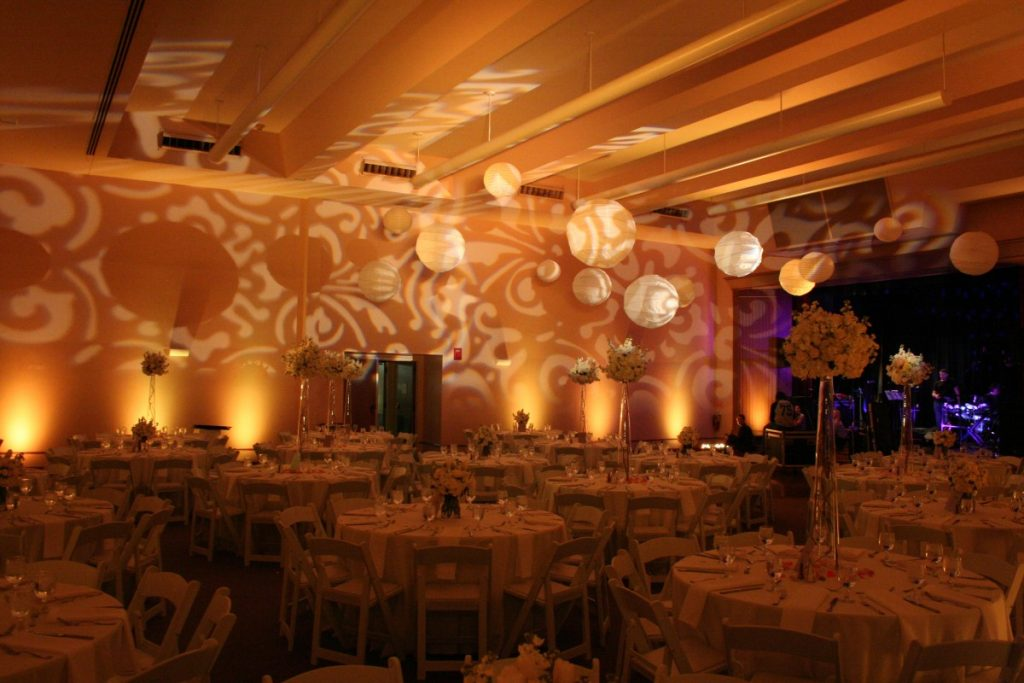 Uplighting & White Lanterns with Pattern Gobo Light Projection