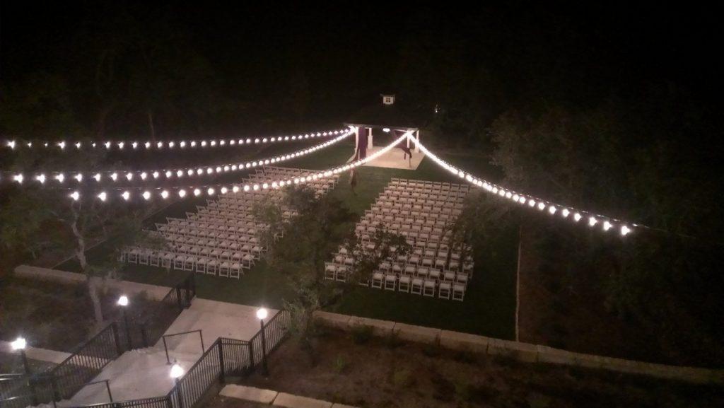 Outdoor Ceremony String Lighting