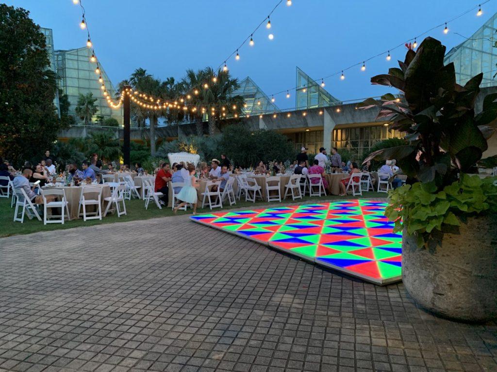 String Lighting with LED Dancefloor