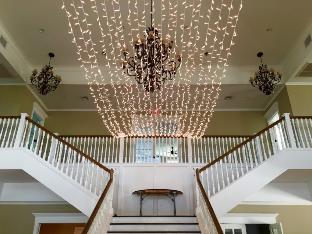 Twinkle String Lighting over Ceiling