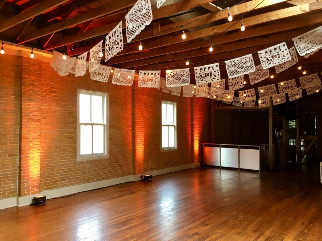 String Lighting, Papel Picado, & Uplighting