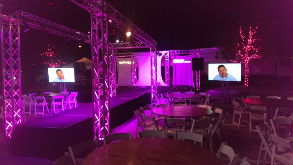 Runway Framed with Trussing & Uplighting