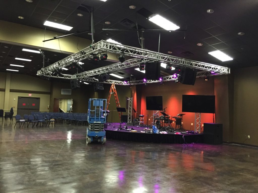 Truss Supported Stage Lighting
