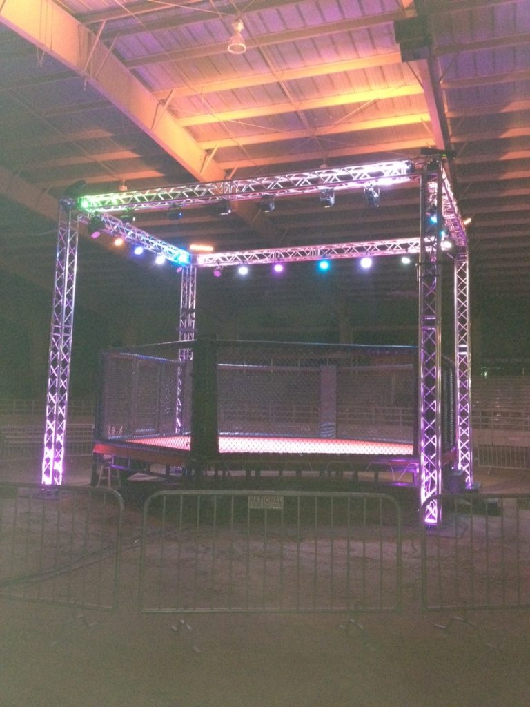 Truss Cage Around Boxing Ring