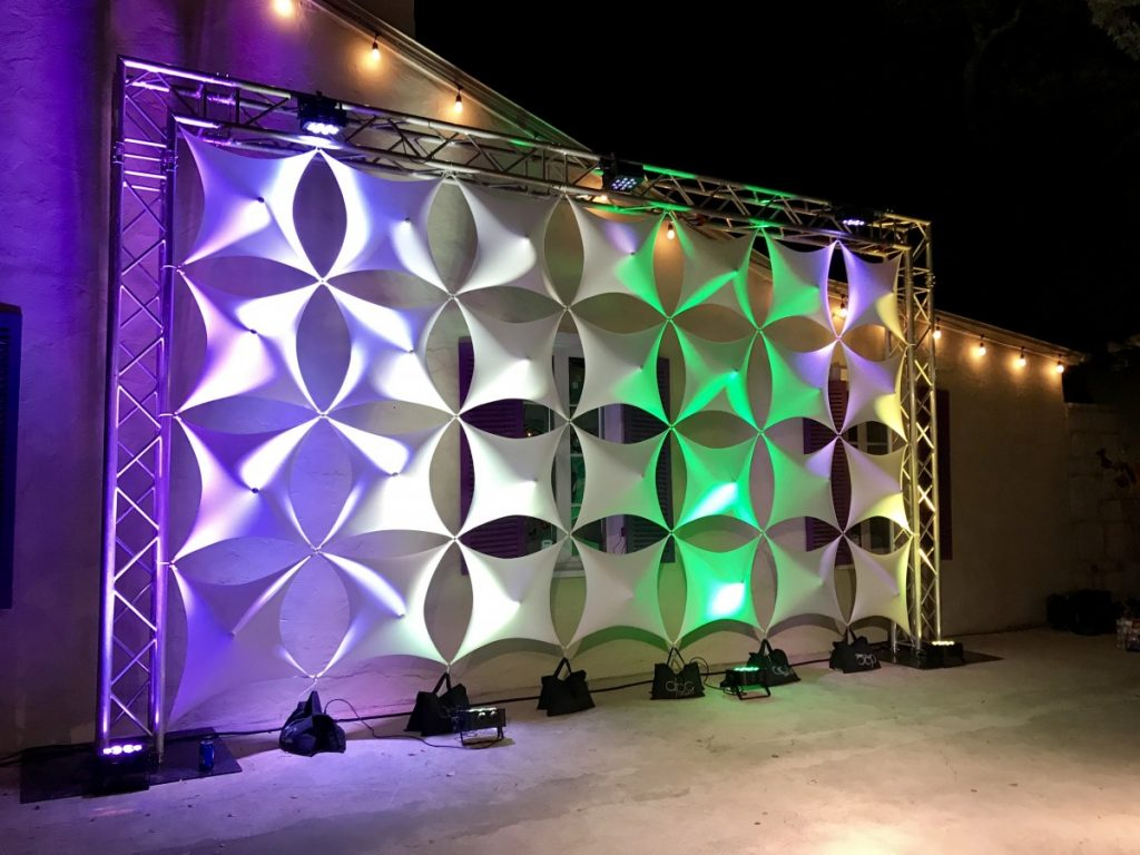 Truss Stage Backdrop with Spandex 3D Panels
