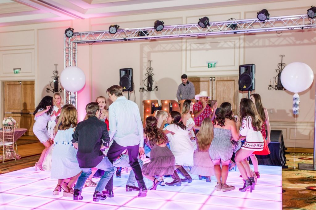 Trussing Lighting with LED Dance Floor