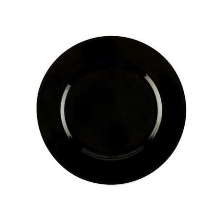 Black Resin Charger