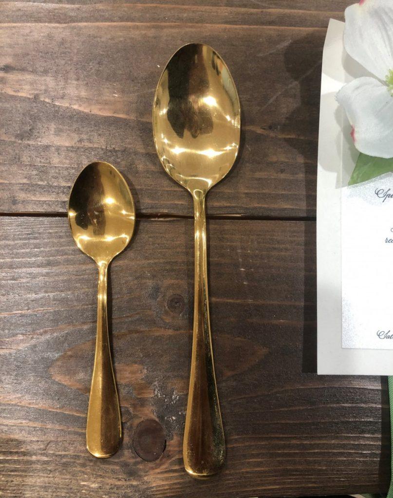 Gold Flatware - Spoon / Teaspoon