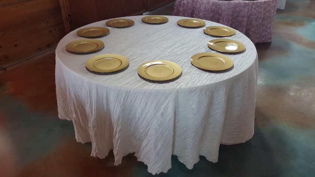 Ivory Crinkle Tablecloth Linen