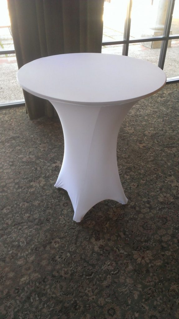 White Spandex Table Covers
