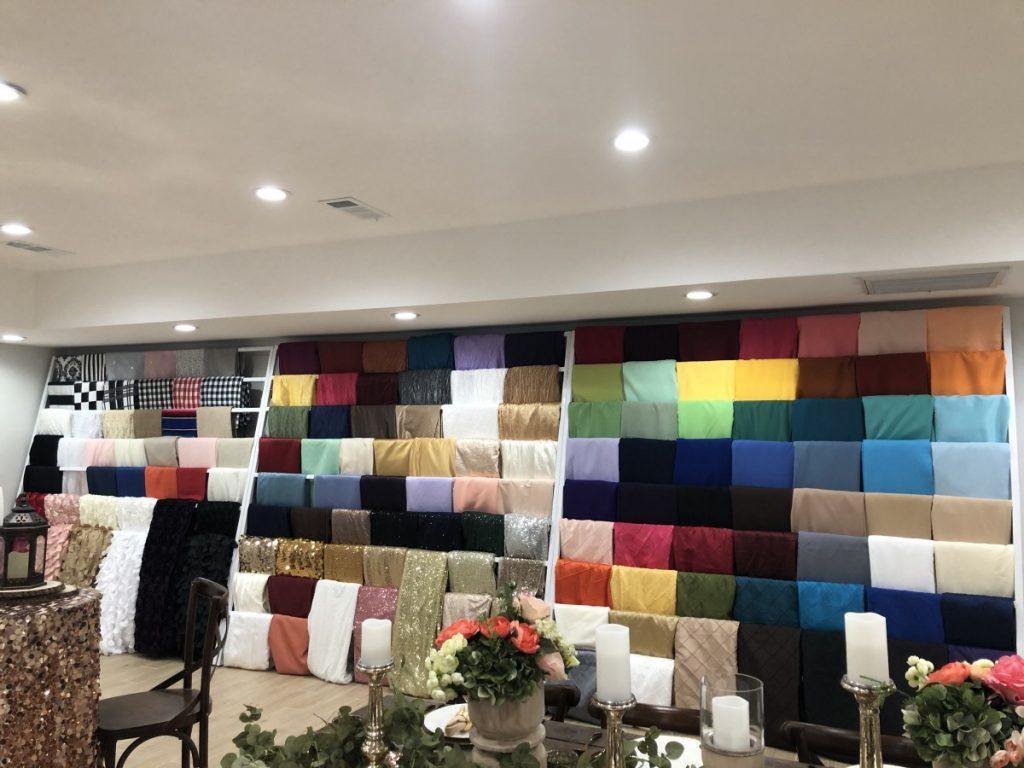 Linen Wall at DPC Event Services' Headquarters