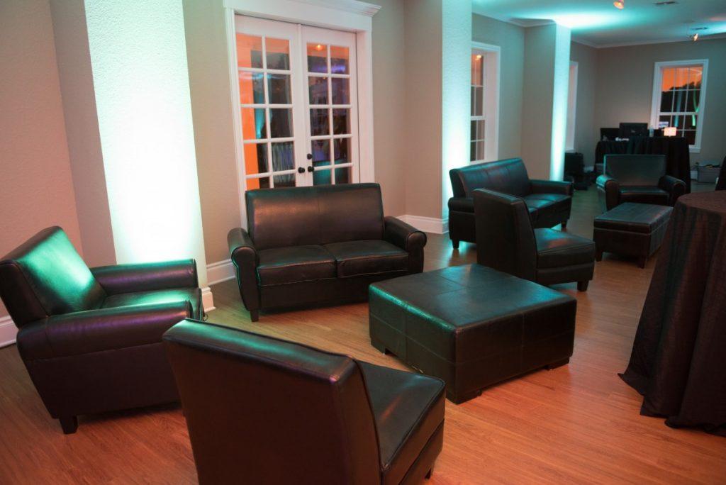 Grouped Black Lounge Furniture
