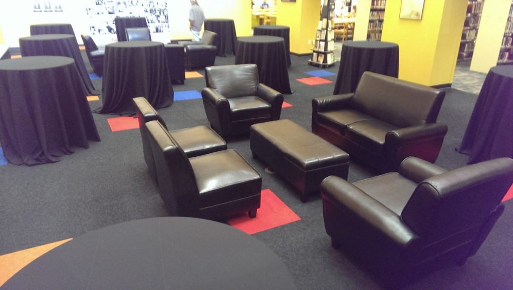 Grouped Black Leather Furniture