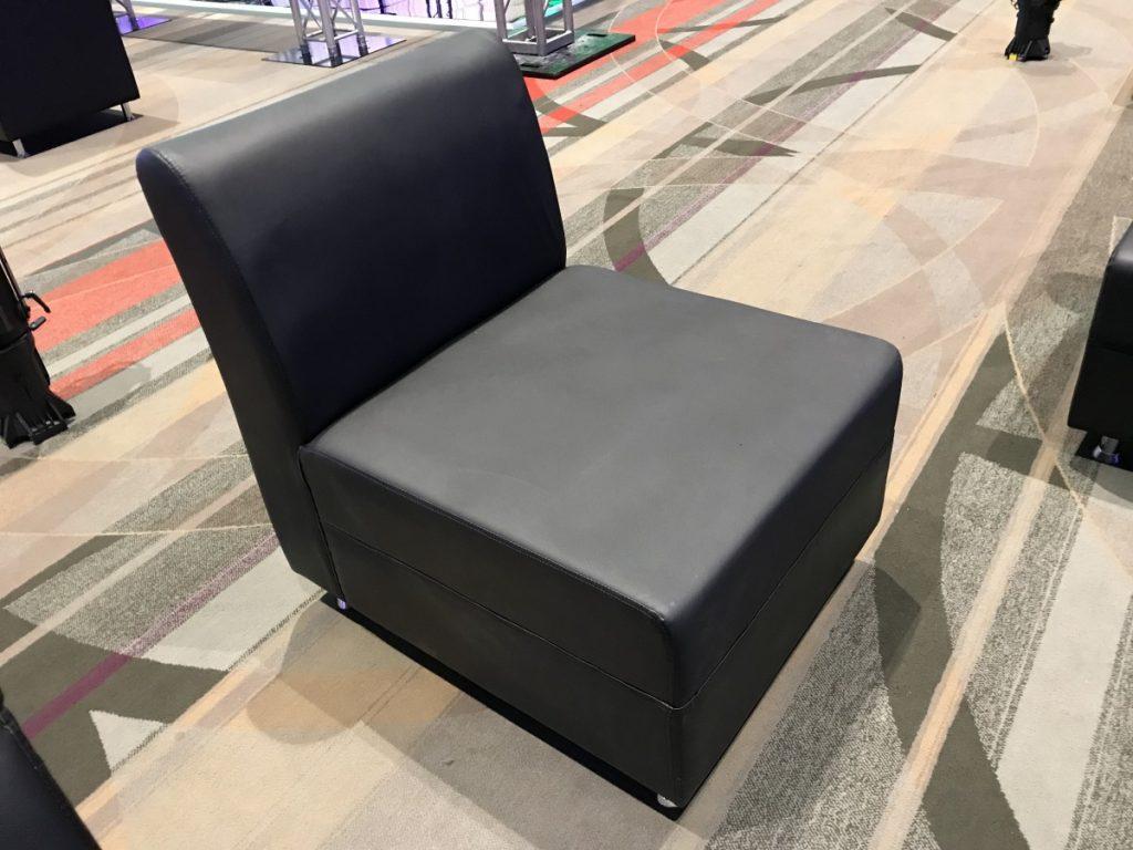 Single Black Matte Armless Chair