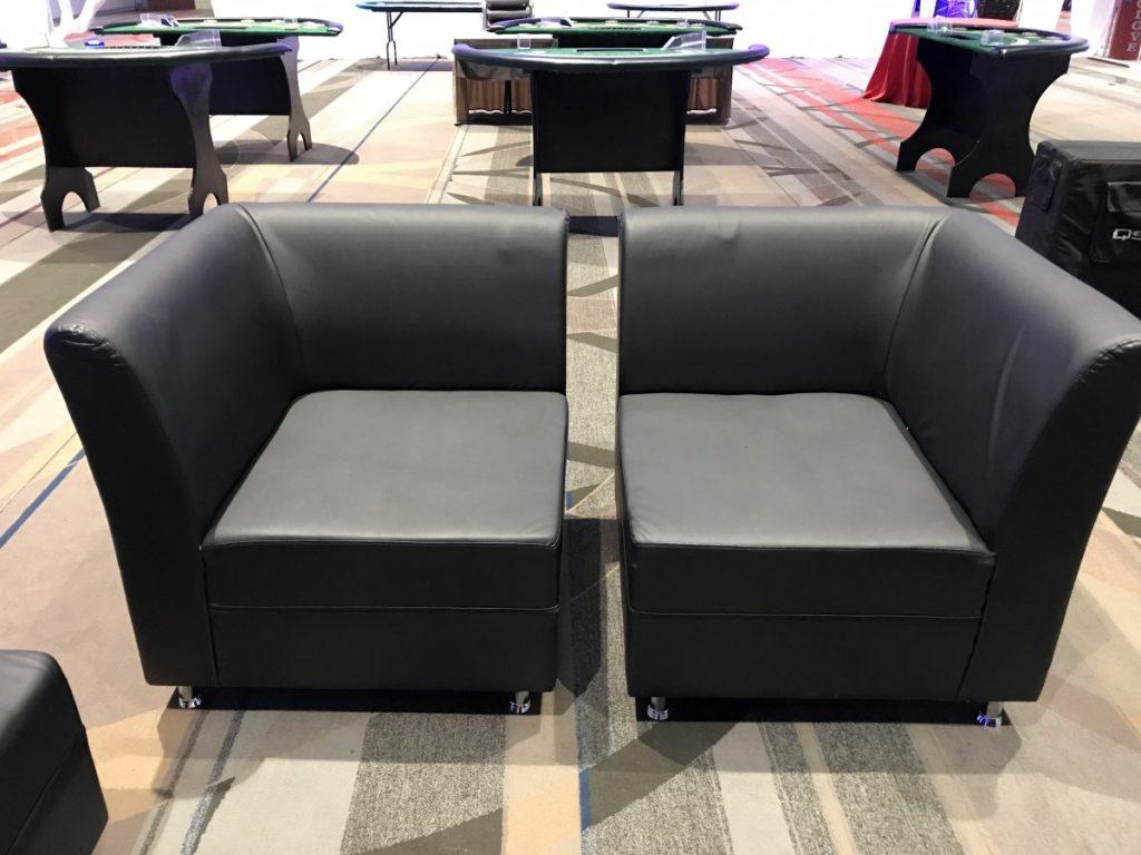 Corner Black Matte Chairs