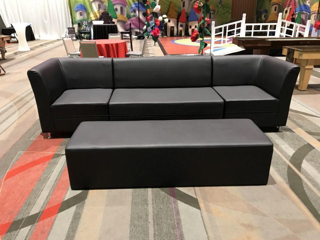 2 Corner Arm Chairs, 1 Sofa, 1 Ottoman
