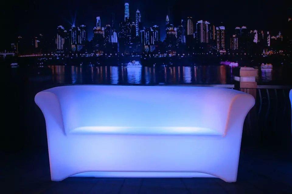 LED Love Seat Sofa