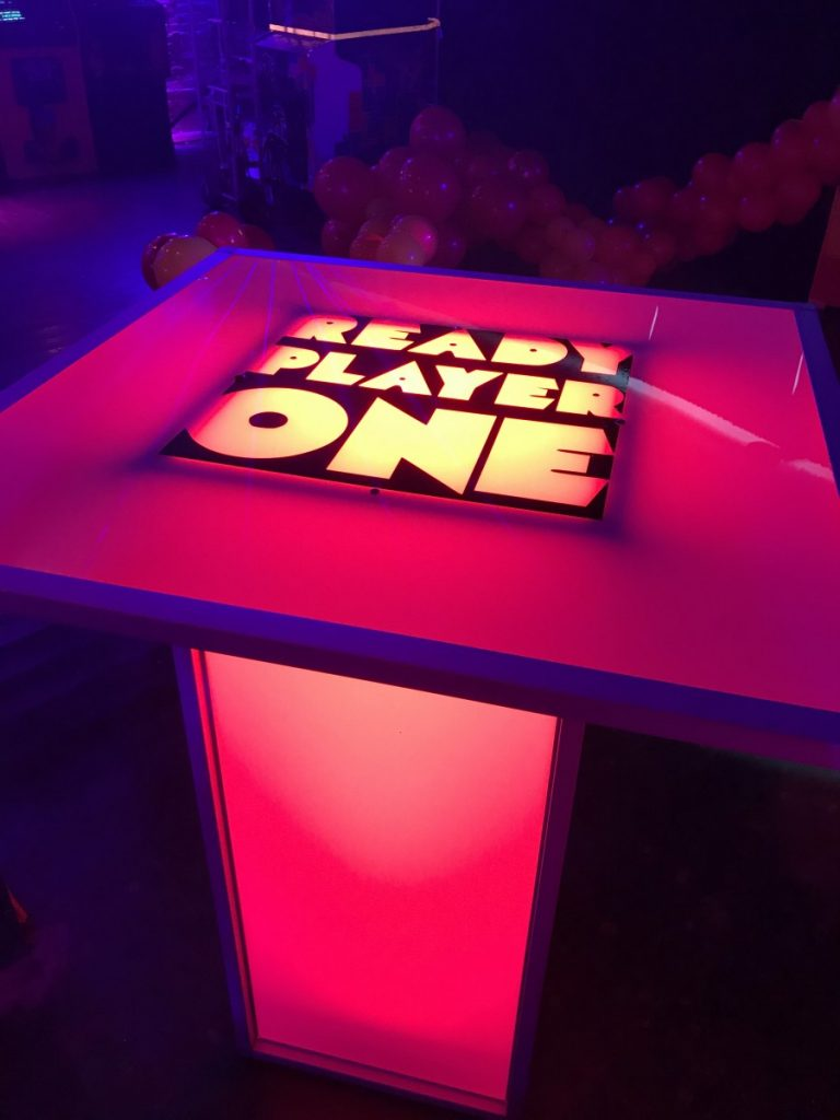 Custom Logo on Top of Square LED Tables