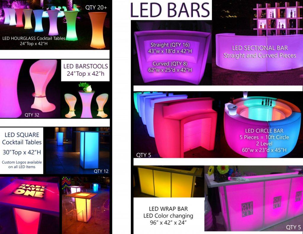 LED Furniture List (Bars & Cocktail)