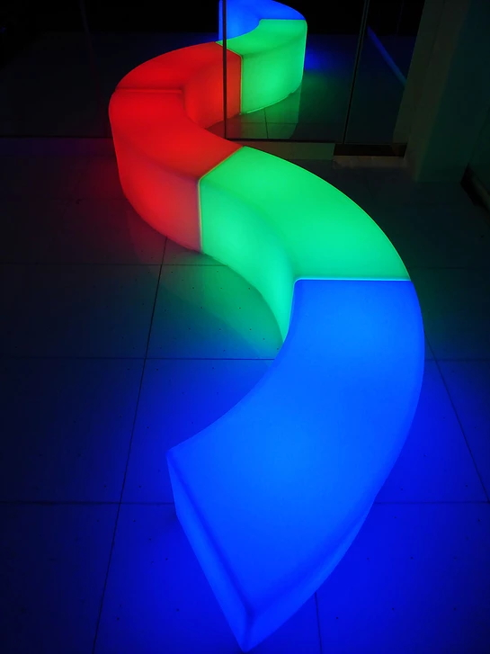 LED Serpentine Benches
