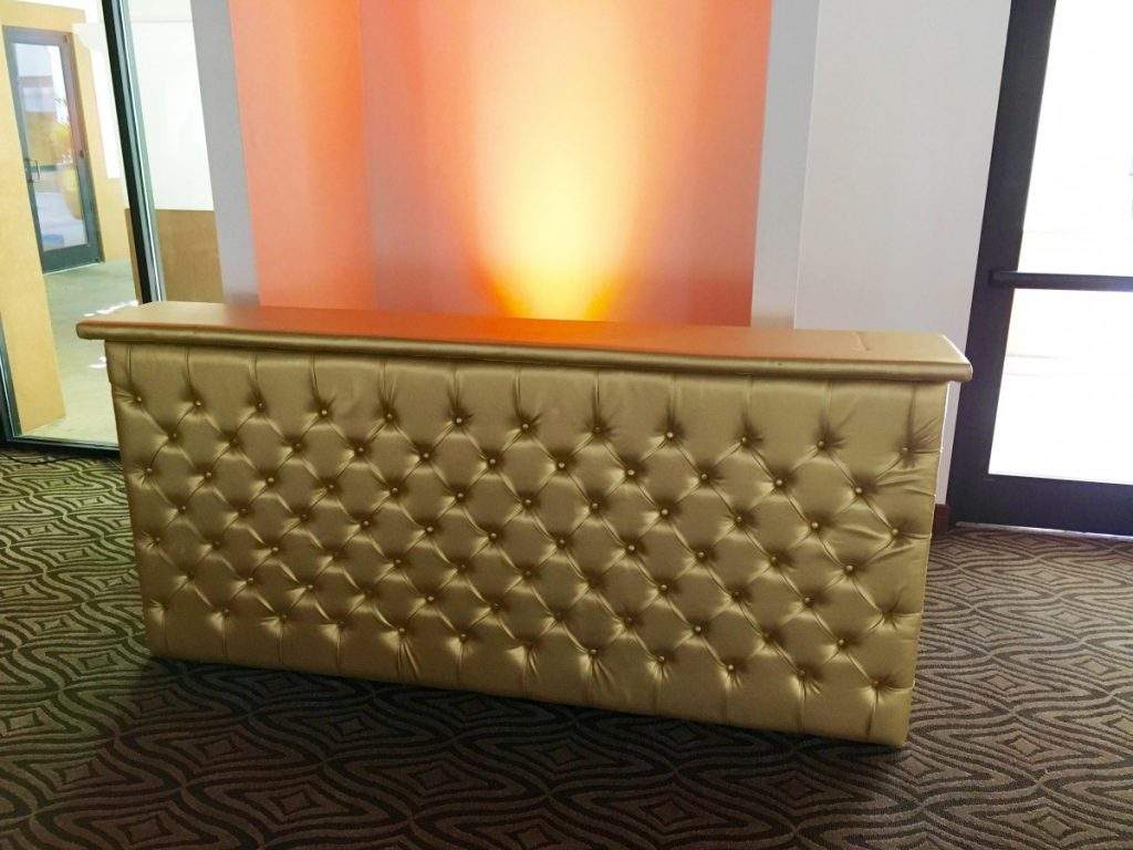 Gold Leather Tufted Bars