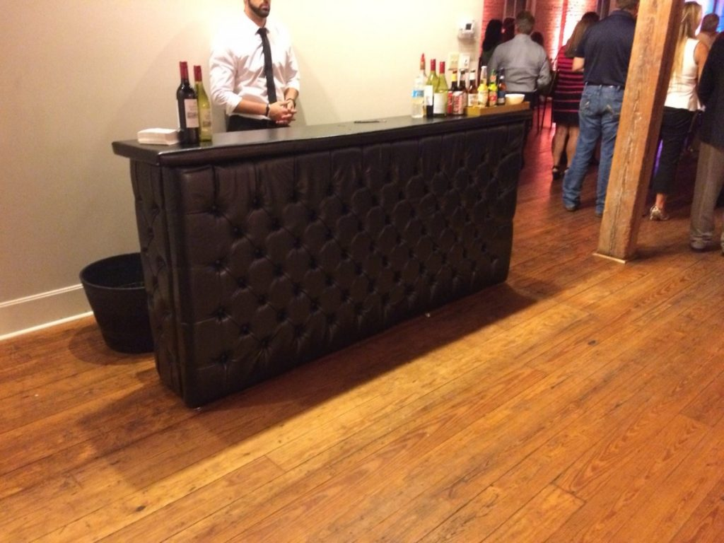 Black Leather Tufted Bar