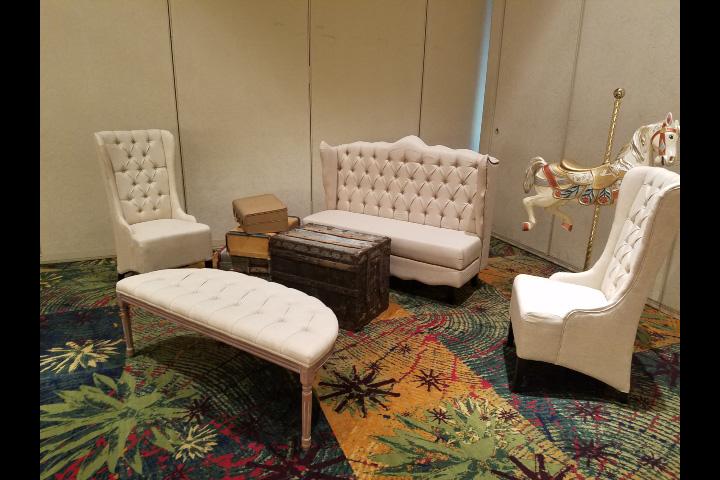 Natural Linen Furniture Set