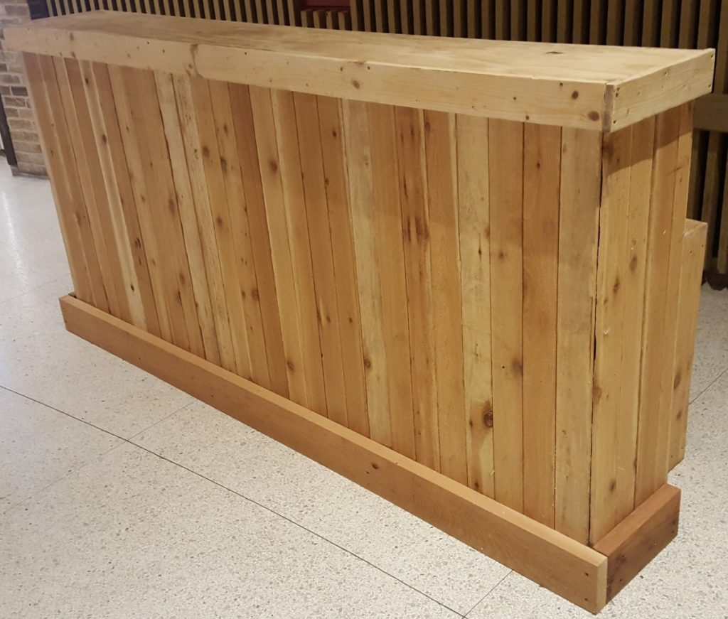 Rustic Wooden Picketed Bars