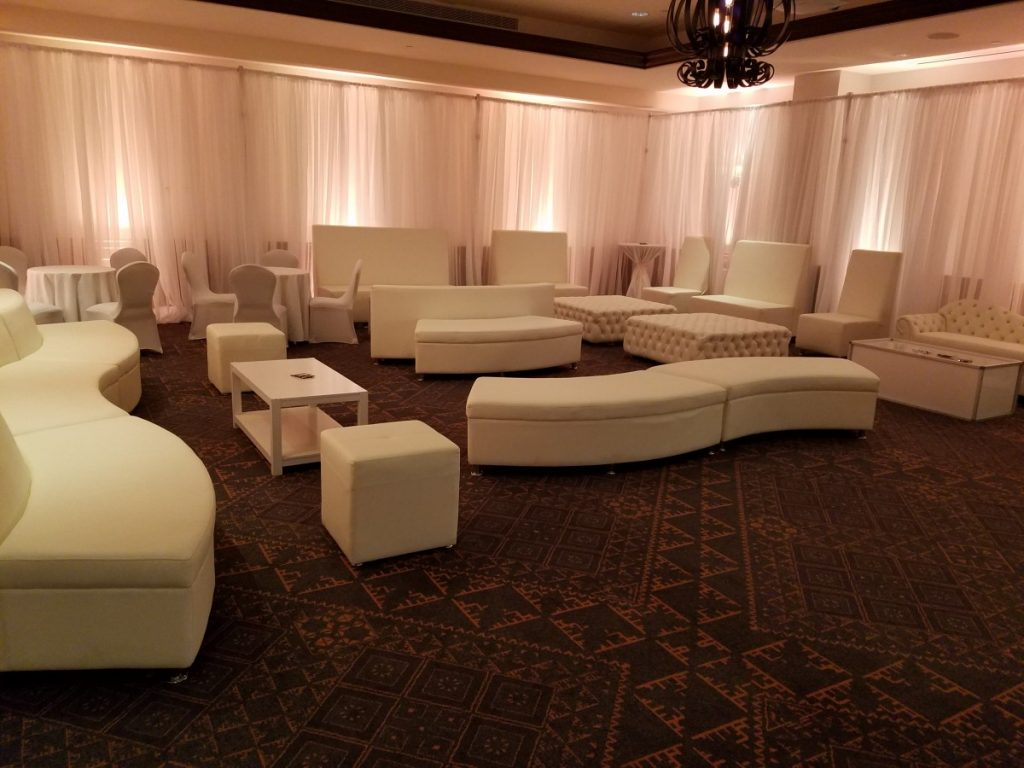 Modern High-Back White Leather Furniture Throughout