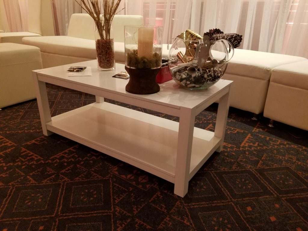 Wooden White Coffee Table