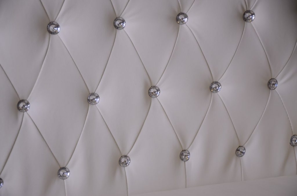 Up Close of Crystal Tufted Lounge Furniture