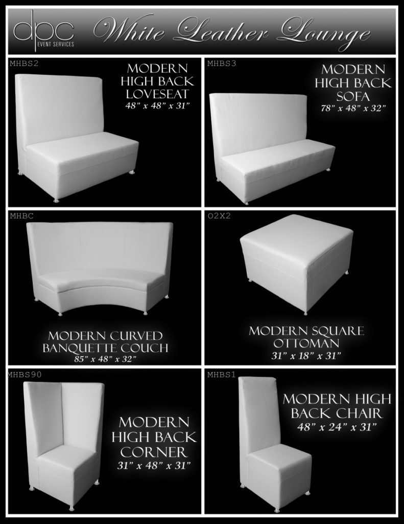 White Leather Furniture Options 2