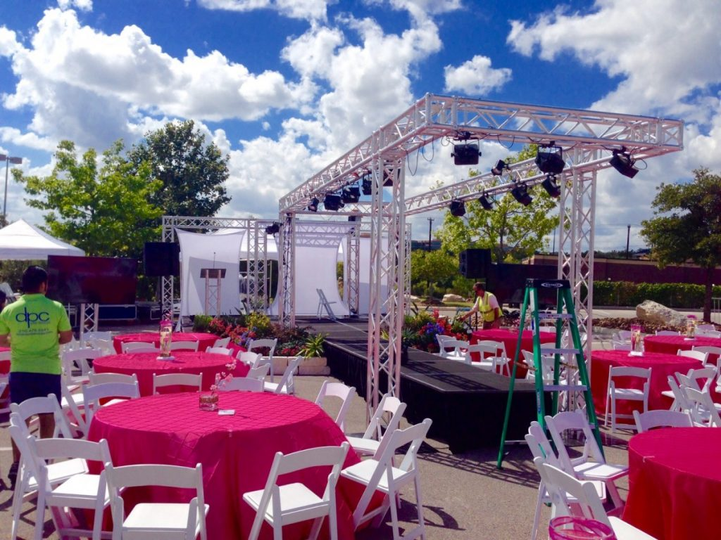 Fashion Show Staging with Trussed Lighting