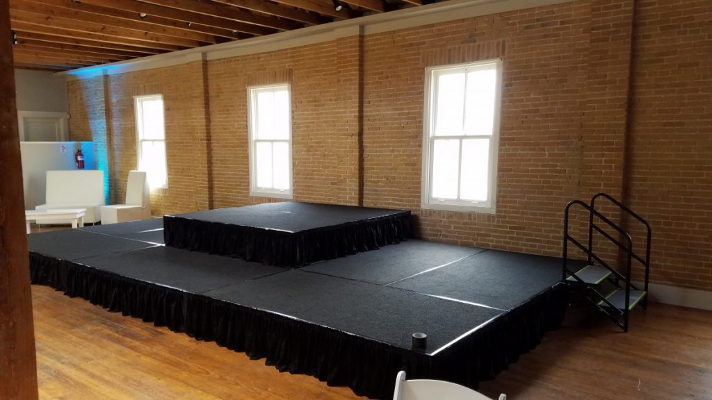 Staging with Riser, Skirting, & Steps - 24' W x 12' D