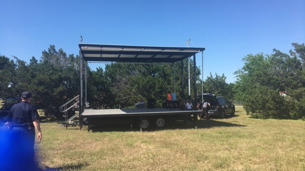 Outdoor Covered Trailer Stages
