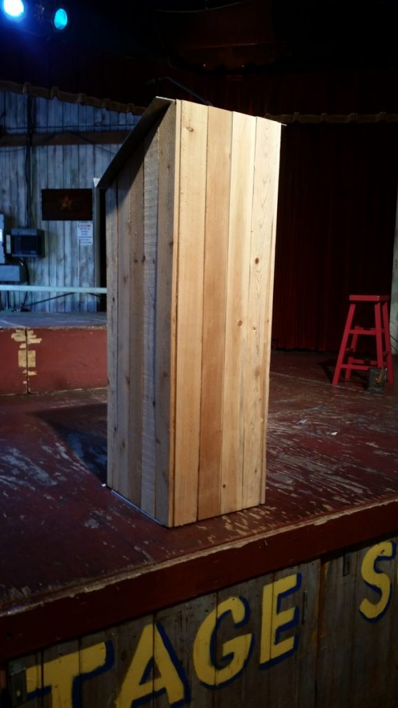 Wooden Picketed Podium