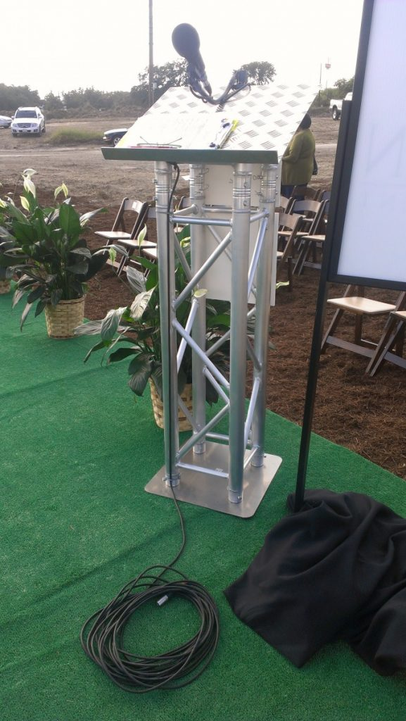 Truss Podiums with Microphone