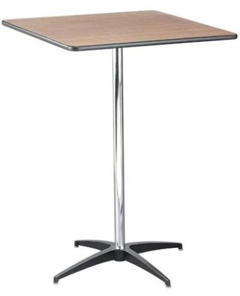 """Square Cocktail Table - 42"""" Height"""