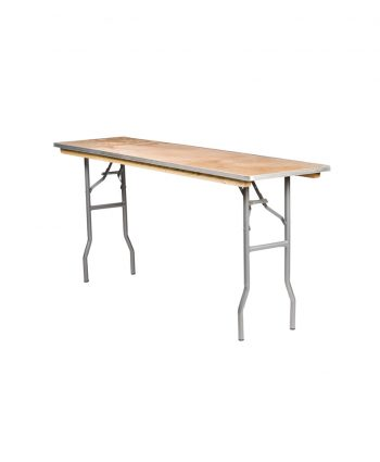 """Classroom Banquet Table - 8ft long x 18"""" wide"""
