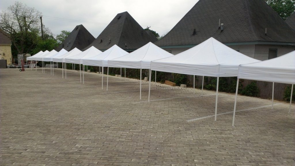 10' x 10' White Tents Available at DPC Event Services